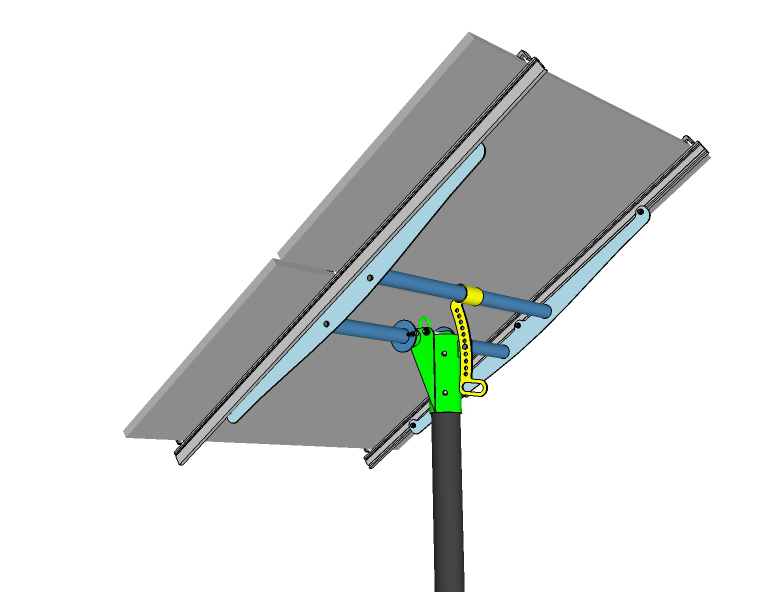 pole mount for 2 solar panels