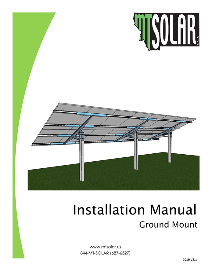 cover of MT Solar ground mount installation manual